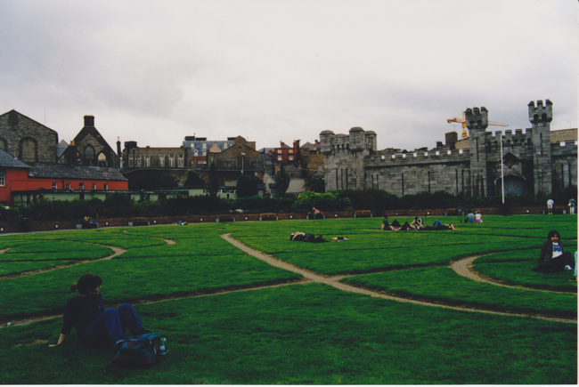 grounds outside Dublin Castle