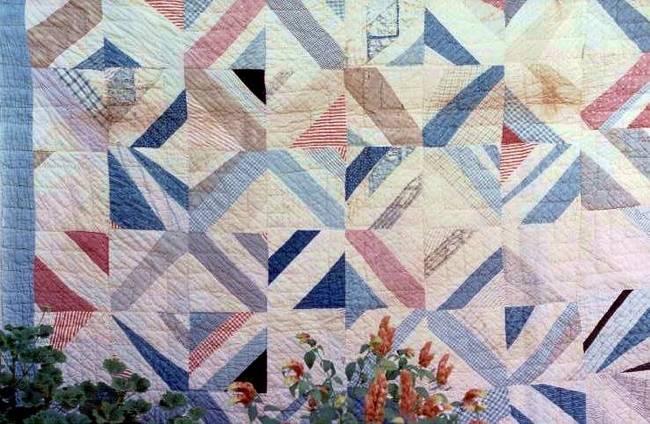 old scrappy quilt