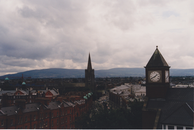 view of Dublin from Christ Church Cathedral