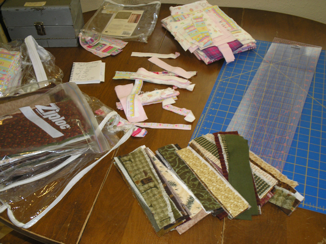 flannel fabric scraps