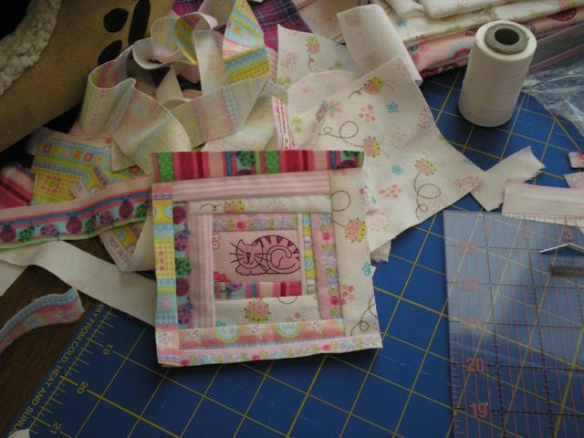 finished pink coaster