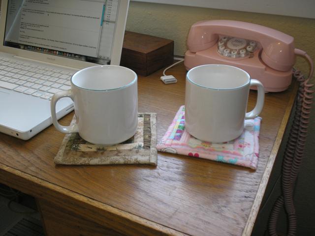 coasters under mugs